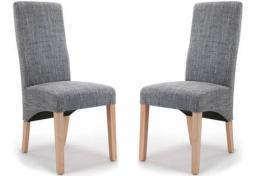 Shankar - Baxter Tweed Grey Dining Chairs - Set of 4
