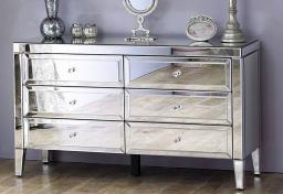 Birlea Furniture - Valencia Mirrored 6 Drawer Chest