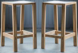 Gallery Direct - Kielder Oak Bar Table & 4 Bar Stools
