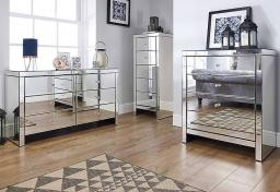 Birlea Furniture - Seville Mirrored 4 Drawer Chest