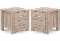 Julian Bowen - Hamilton 2 Drawer Bedside Chests - Set of 2