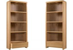 Julian Bowen - Curve Oak Tall Bookcase