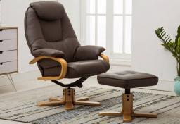 GFA - Pisa Swivel Recliner & Footstool