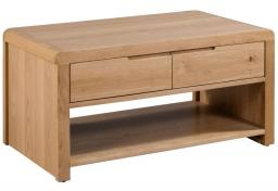 Julian Bowen - Curve Oak Coffee Table