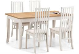 Julian Bowen - Davenport Dining Table with Vermont Chairs
