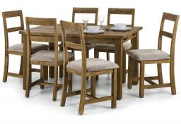 Julian Bowen - Aspen Reclaimed Pine Extending Dining Table & 6 Chairs