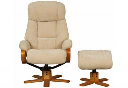 GFA - Nice Fabric Swivel Recliner & Footstool