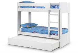 Julian Bowen - Ellie White Bunk Bed with Underbed - Package