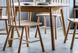 Gallery Direct - Wycombe Oak Round Extending Dining Table