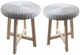 Gallery Direct - Kew Lloyd Loom Side Tables - Set of 2
