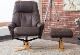 GFA - Dubai Swivel Recliner Chair & Footstool