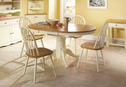 Vida Living - Cotswold Extending Dining Table & 6 Windsor Dining Chairs