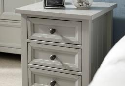 Julian Bowen - Maine Grey 3 Drawer Bedside Chests - Set of 2