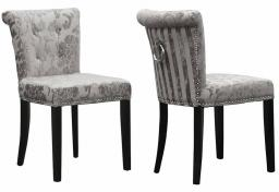 Shankar - Sandringham Baroque Velvet Accent Chair - Set of 2