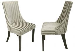 Shankar - Balmoral Stripe Velvet Accent Chair - Set of 2
