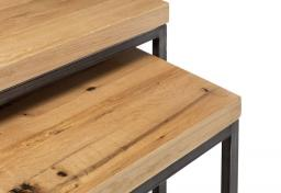 Julian Bowen - Brooklyn Oak Nesting Lamp Tables