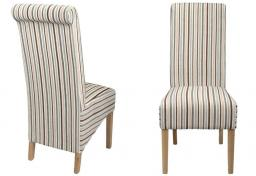 Shankar - Krista Chenille Stripe Dining Chairs - Set of 2