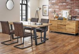 Julian Bowen - Brooklyn Oak Dining Table & 4 Brooklyn Chairs