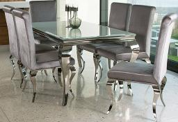 Vida Living - Louis Glass Dining Table & 6 Dining Chairs