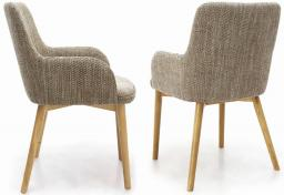 Shankar - Sidcup Tweed Oatmeal Dining Chairs - Set of 2