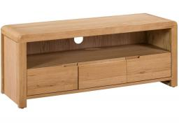 Julian Bowen - Curve Oak TV Unit