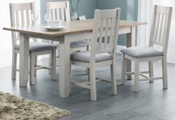 Julian Bowen - Richmond Grey Extending Dining Table & 6 Chairs