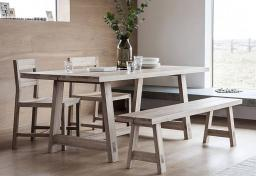 Gallery Direct - Kielder Oak Dining Table & 2 Chairs
