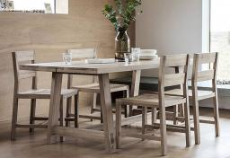 Gallery Direct - Kielder Oak Dining Table & 4 Chairs
