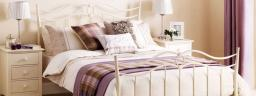 Julian Bowen - Katrina Metal Double Bed with Mattress - Package