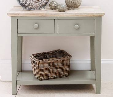 Ordinaire 2 Drawer Console Table. Statement Furniture   Florence Sage Green ...