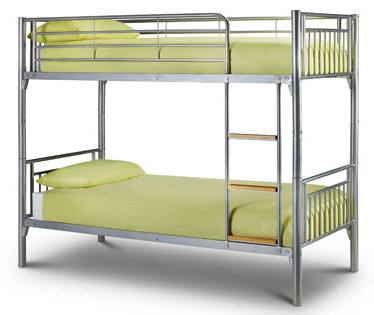 Julian bowen atlas metal bunk bed white gloss finish for Bunk bed alternative
