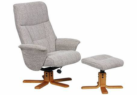 GFA - Marseilles Fabric Swivel Recliner & Footstool Product Image