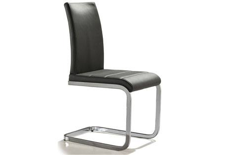 mobo dining chairs chrome frame side dining chairs with faux