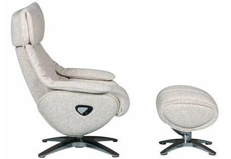 GFA - Alpha Fabric Swivel Recliner & Footstool Product Image