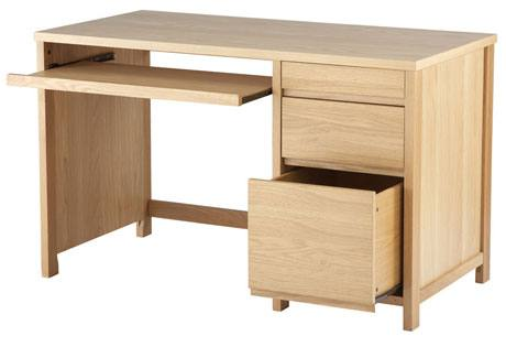 Alphason - Hunter Oak Home Office Desk Product Image