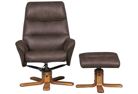 GFA - Amalfi Swivel Recliner & Footstool Product Image