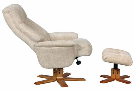 GFA - St Tropez Fabric Swivel Recliner & Footstool Product Image