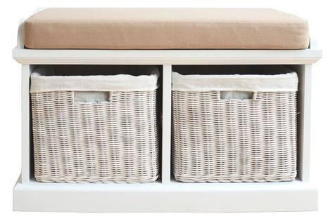 Genial Storage Baskets. Statement Furniture   Tetbury White Storage Bench U0026 Seat  ...