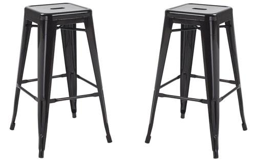 Lpd furniture hoxton bar stool replica tolix metal stool in 5 painted c - Chaise imitation tolix ...