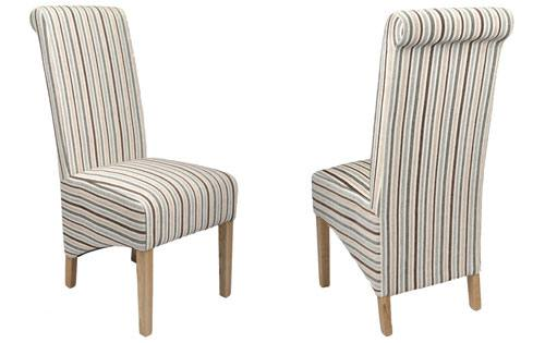 Shankar - Krista Chenille Stripe Dining Chair Product Image