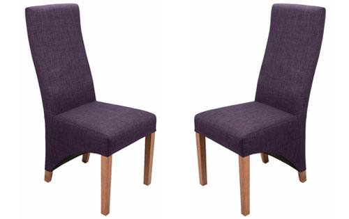 PLUM COLOUR FABRIC DINING CHAIRS X 2 A Pair Sets Of 4 And 6 Available