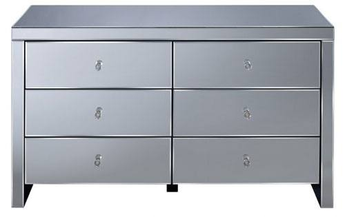 Birlea Furniture - Seville Mirrored 6 Drawer Chest Product Image