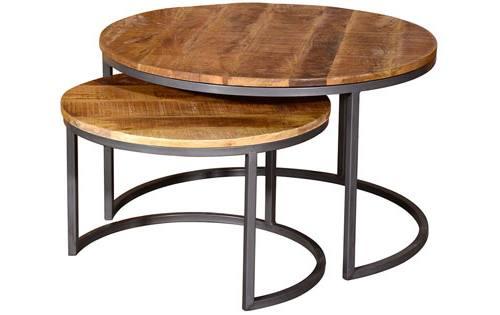 Vida Living Savannah Round Coffee Tables 2 Per Set