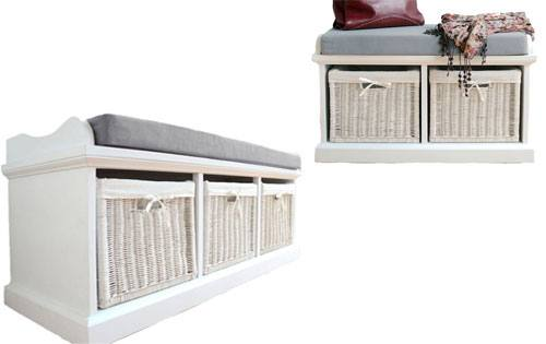 Statement Furniture - Tetbury White Bench & Seat Cushion Product Image