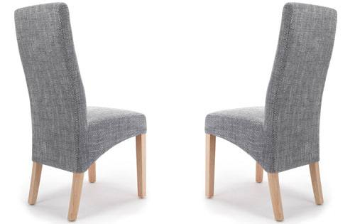Shankar - Baxter Tweed Grey Dining Chair Product Image