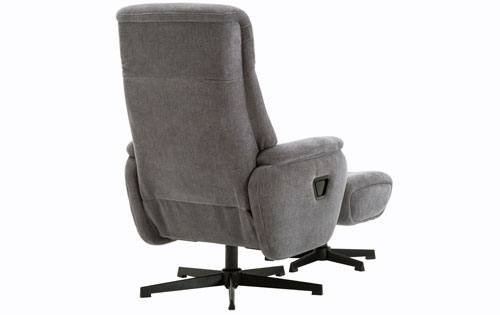GFA - Santorini Fabric Swivel Recliner & Footstool Product Image