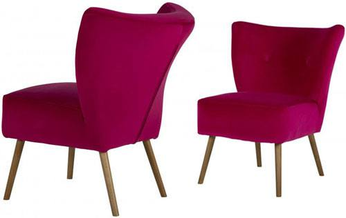 Paulus & Brown - Chloe Velvet Cocktail Chair Product Image