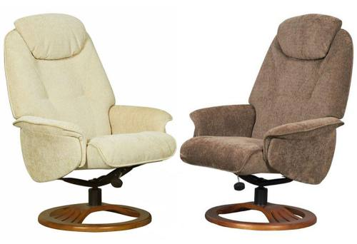 Gfa Oslo Fully Adjustable Fabric Swivel Recliner Chair