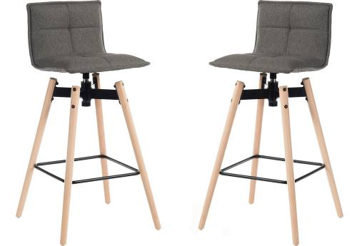 Teknik Office - Spin Swivel Bar Stool: Light Wood Frame