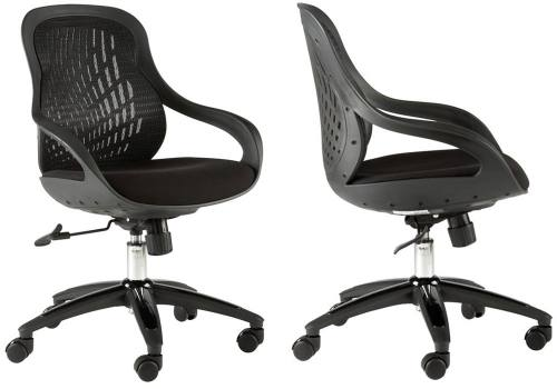 Alphason - Croft Executive Mesh Chair: Black Mesh Back